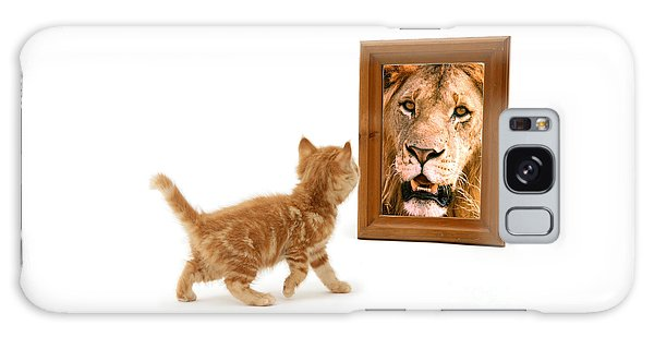 Admiring The Lion Within Galaxy Case