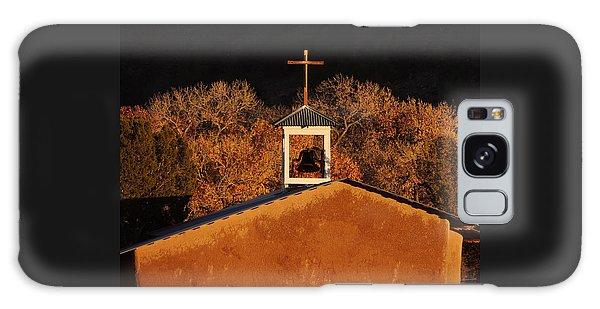 Adobe Church At San Ildefonso Pueblo In Northern New Mexico Galaxy Case