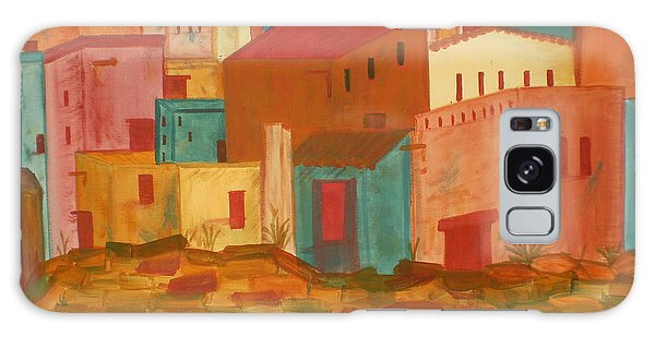 Adobe Village Galaxy Case by Judi Goodwin