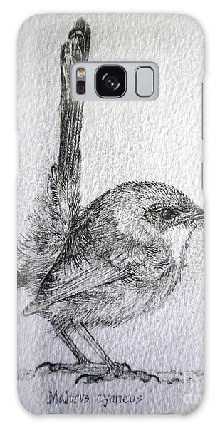 Adolescent Blue Wren Galaxy Case