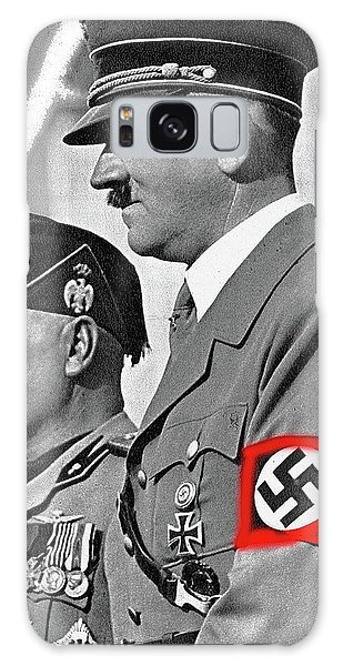 Adolf Hitler And Fellow Fascist Dictator Benito Mussolini October 26 1936 Number Three Color Added  Galaxy Case