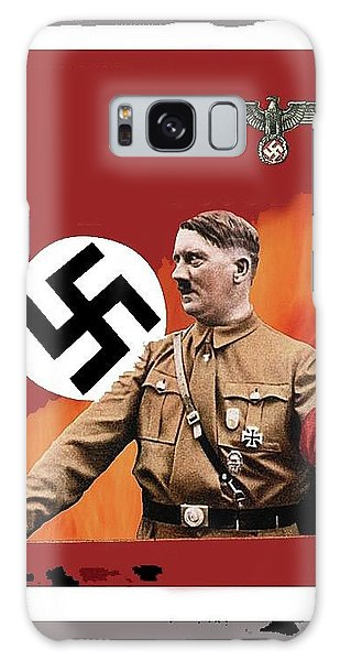 Adolf Hitler In Color With Nazi Symbols Unknown Date Additional Color Added 2016 Galaxy Case