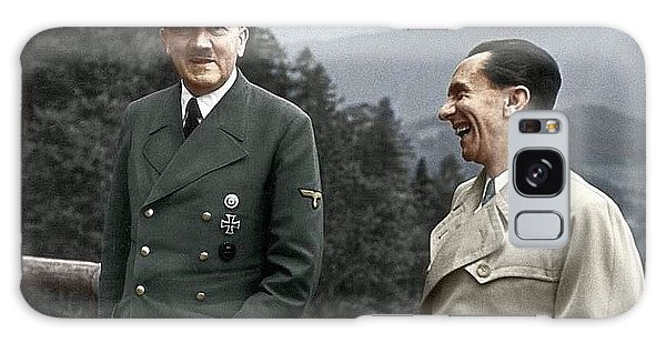 Adolf Hitler Joseph Goebbels Berghof Retreat  Number 2 Agfacolor Heinrich Hoffman Photo Circa 1942 Galaxy Case