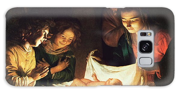 Joseph Galaxy Case - Adoration Of The Baby by Gerrit van Honthorst