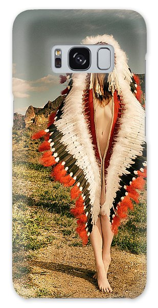 Adorned Feathered Nude Galaxy Case