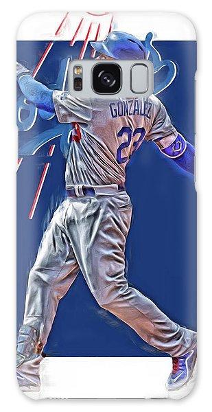 Los Angeles Dodgers Galaxy S8 Case - Adrian Gonzalez Los Angeles Dodgers Oil Art by Joe Hamilton