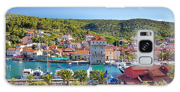 Adriatic Village Of Marina Near Trogir Galaxy Case