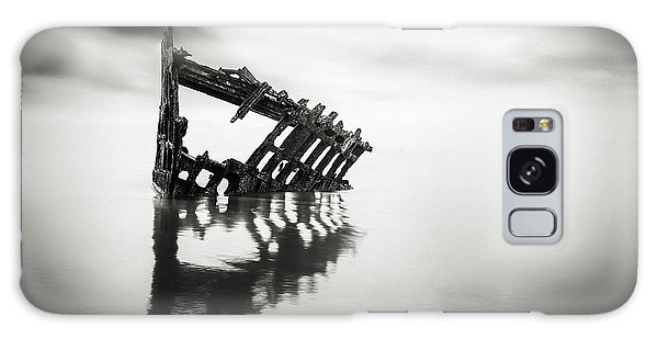 Peter Iredale Galaxy Case - Adrift At Sea In Black And White by Eduard Moldoveanu