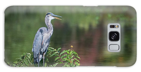 Galaxy Case featuring the photograph Advice From A Great Blue Heron by Cindy Lark Hartman