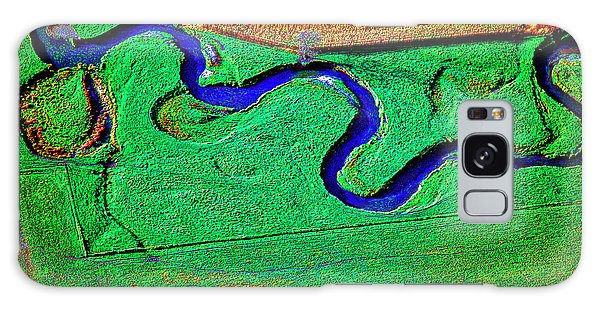 Aerial Farm Stream 3 Galaxy Case