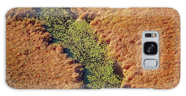 Aerial Farm Stream Lillies  Galaxy Case