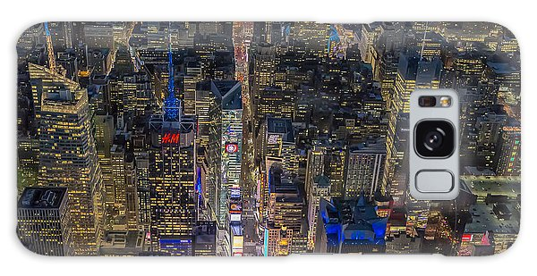 Aerial New York City 42nd Street Galaxy Case by Susan Candelario