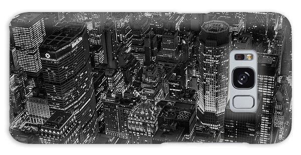 Aerial New York City Skyscrapers Bw Galaxy Case