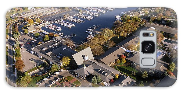 Aerial Of The Abbey Resort And Harbor - Fontana Wisconsin Galaxy Case