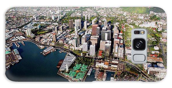 Aerial Panorama - Downtown - Honolulu, Oahu, Hawaii  Galaxy Case