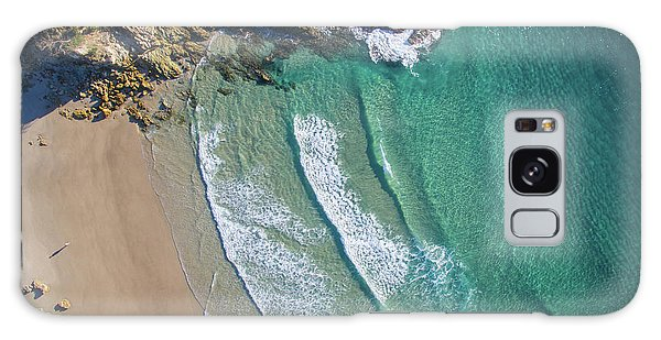 Aerial Shot Of Honeymoon Bay On Moreton Island Galaxy Case
