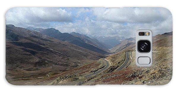 Aerial Shot Of Mountainous Karakoram Highway Babusar Pass Pakistan Galaxy Case