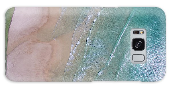 Aerial View Of Beach And Wave Patterns Galaxy Case