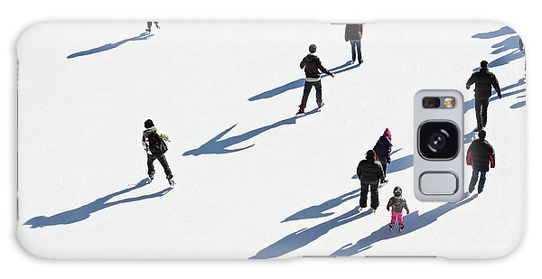 Galaxy Case featuring the photograph Aerial View Of Ice Skating by Shankar Adiseshan