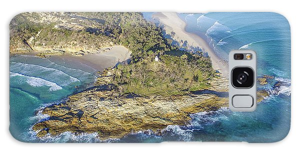 Aerial View Of North Point, Moreton Island Galaxy Case