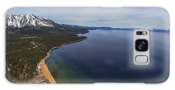 Aerial View Of Ski Beach, Lake Tahoe Galaxy Case
