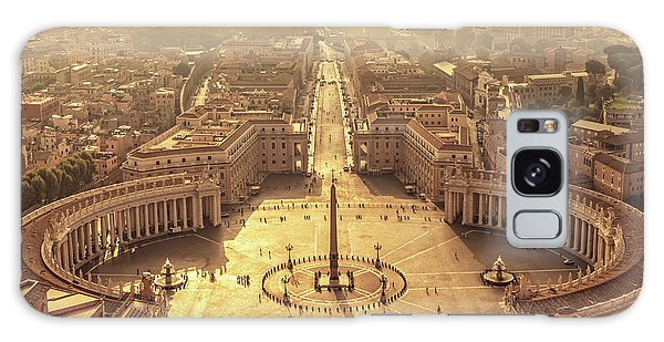 Town Square Galaxy Case - Aerial View Of St Peter's Square by Delphimages Photo Creations