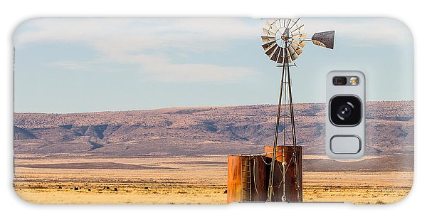 Galaxy Case featuring the photograph Aermotor Windmill by SR Green