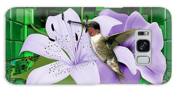 Galaxy Case featuring the mixed media Aeronautics Humming Bird by Marvin Blaine