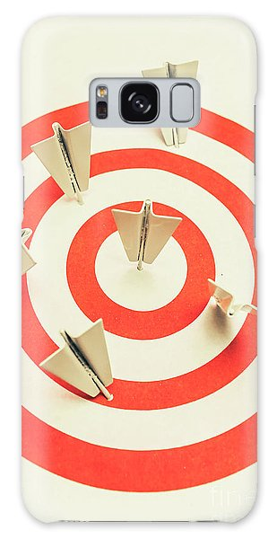 Airplanes Galaxy Case - Aeroplane Target Pin Board by Jorgo Photography - Wall Art Gallery