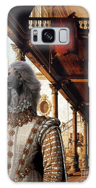 Afghan Hound-capriccio Of Colonade And The Courtyard Of A Palace Canvas Fine Art Print Galaxy Case