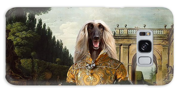 Sighthound Galaxy Case - Afghan Hound-the Afternoon Promenade In Rome  Canvas Fine Art Print by Sandra Sij