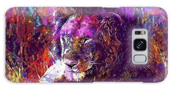 Galaxy Case featuring the digital art Africa Safari Tanzania Bush Mammal  by PixBreak Art