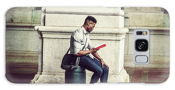 African American College Student Studying In New York Galaxy Case