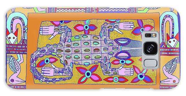 Galaxy Case featuring the digital art African Croc Beach Bum by Vagabond Folk Art - Virginia Vivier