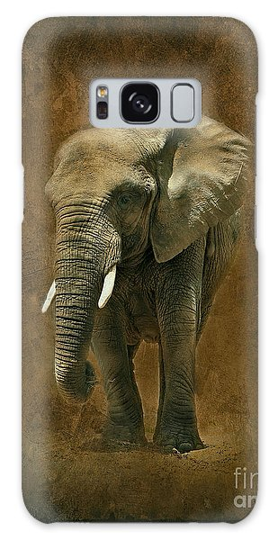 African Elephant With Textures Galaxy Case