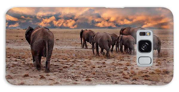 African Elephants Galaxy Case
