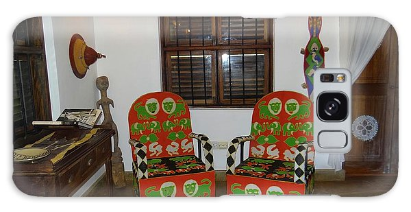 African Interior Design 5 Beaded Chairs Galaxy Case