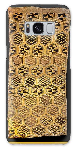 Galaxy Case featuring the digital art African Kuba Cloth Print by Vagabond Folk Art - Virginia Vivier