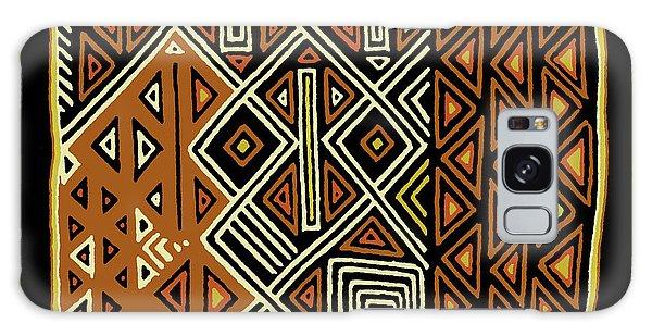 Galaxy Case featuring the digital art African Kuba View From Earth by Vagabond Folk Art - Virginia Vivier