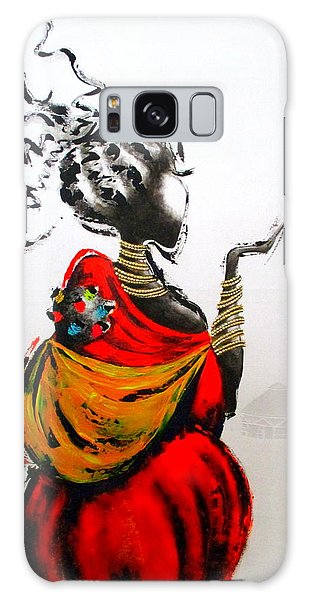 African Lady And Baby Galaxy Case