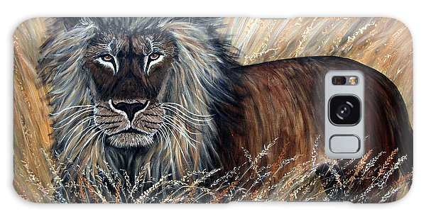 African Lion 2 Galaxy Case by Nick Gustafson