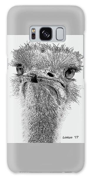 African Ostrich Sketch Galaxy Case