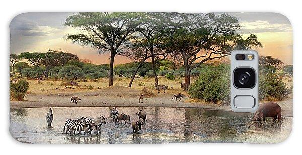 African Safari Wildlife At The Waterhole Galaxy Case