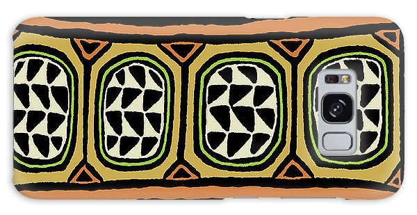 Galaxy Case featuring the digital art African Tribal Textile by Vagabond Folk Art - Virginia Vivier
