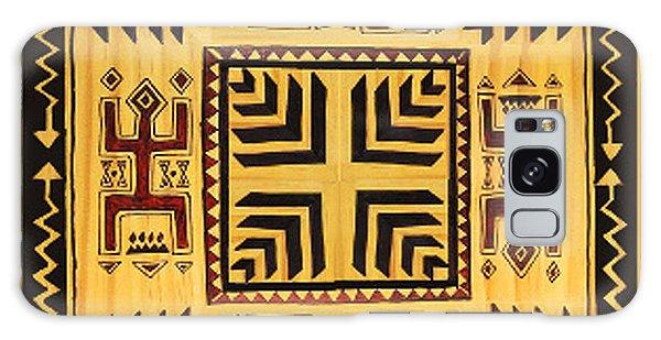 Galaxy Case featuring the digital art African Tribal Spirits by Vagabond Folk Art - Virginia Vivier