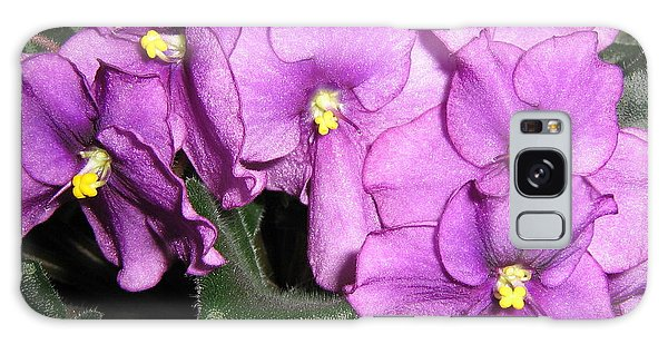 African Violets Galaxy Case by Barbara Yearty