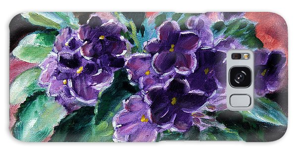 African Violets Galaxy Case by John Lautermilch