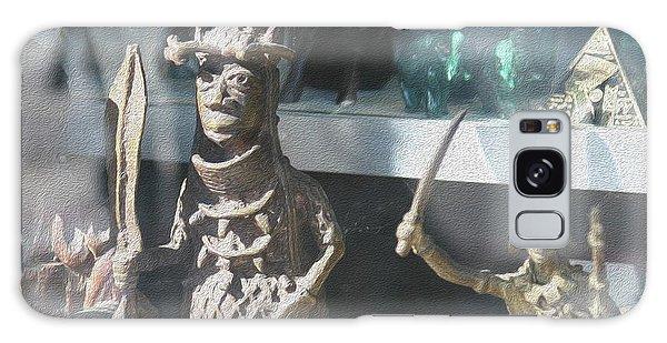 African Warrior Figurine Galaxy Case