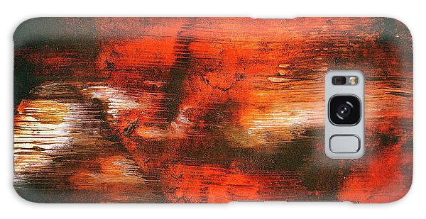 After Midnight - Black Orange And White Contemporary Abstract Art Galaxy Case