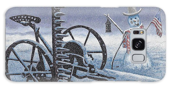 After The Harvest Snowman Galaxy Case by John Stephens